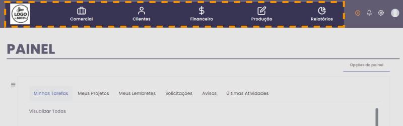 menu principal - Interface principal
